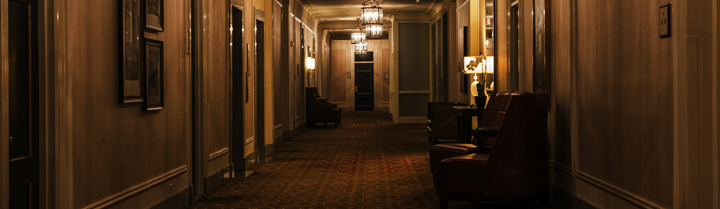 dark hallway for the lady's maid's bell