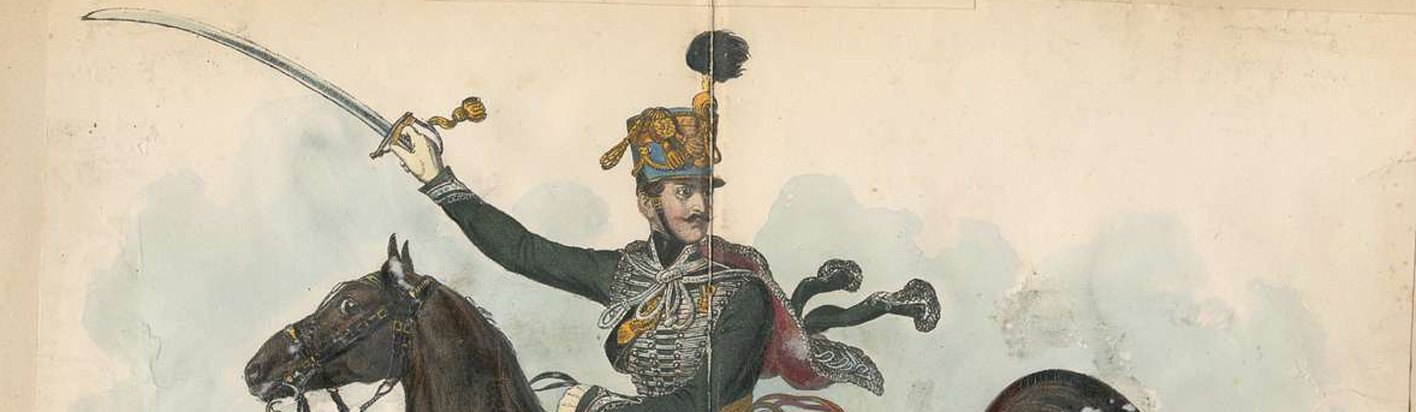 historic hussar painting for the melancholy hussar of hte german legion